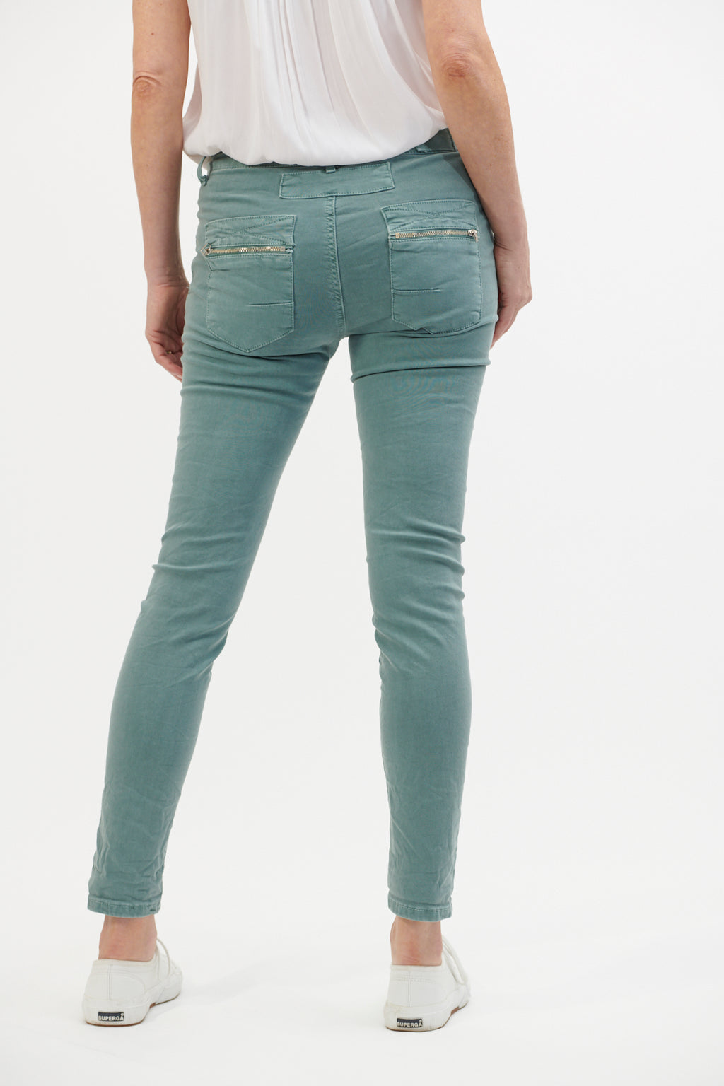 Italian Star Jeans Aqua Green Shade