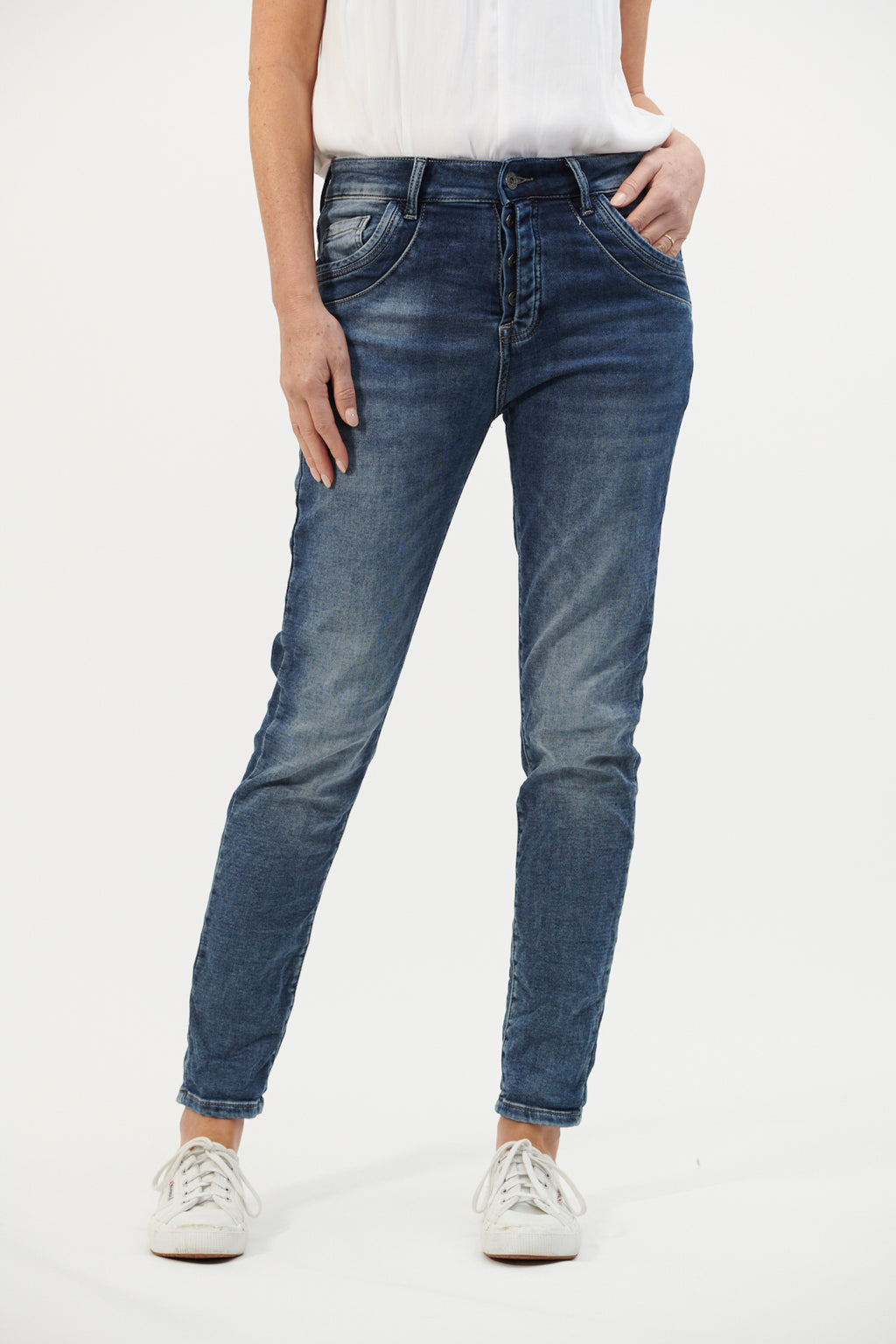 Italian Star Harper Pocket Detail Jeans