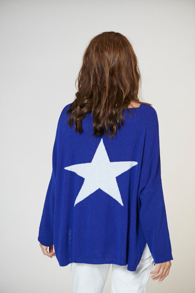 Italian Star Star Back Knit Blue