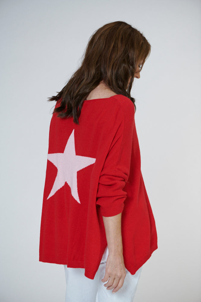 Italian Star Star Back Knit Rouge
