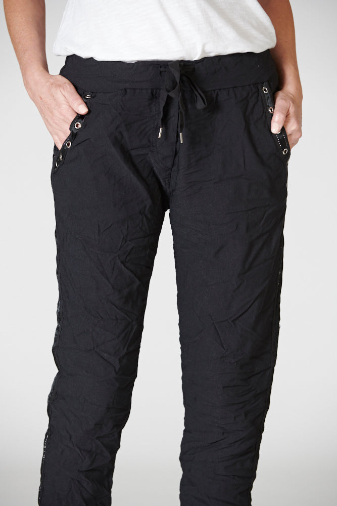 Italian Star Easy Wear Pant Black