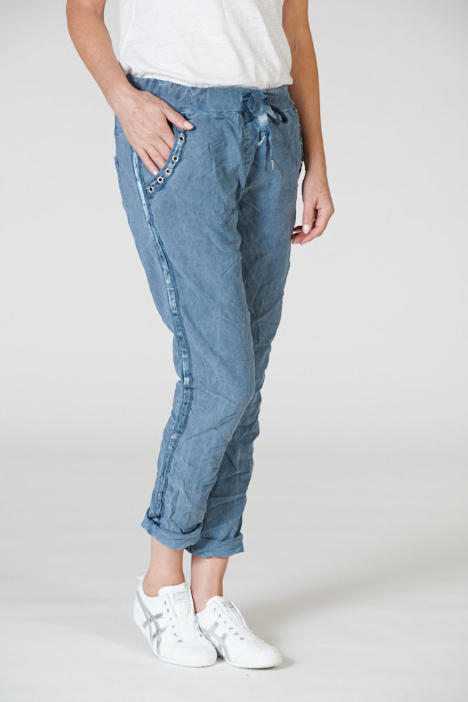 Italian Star Easy Wear Pant Blue Jean