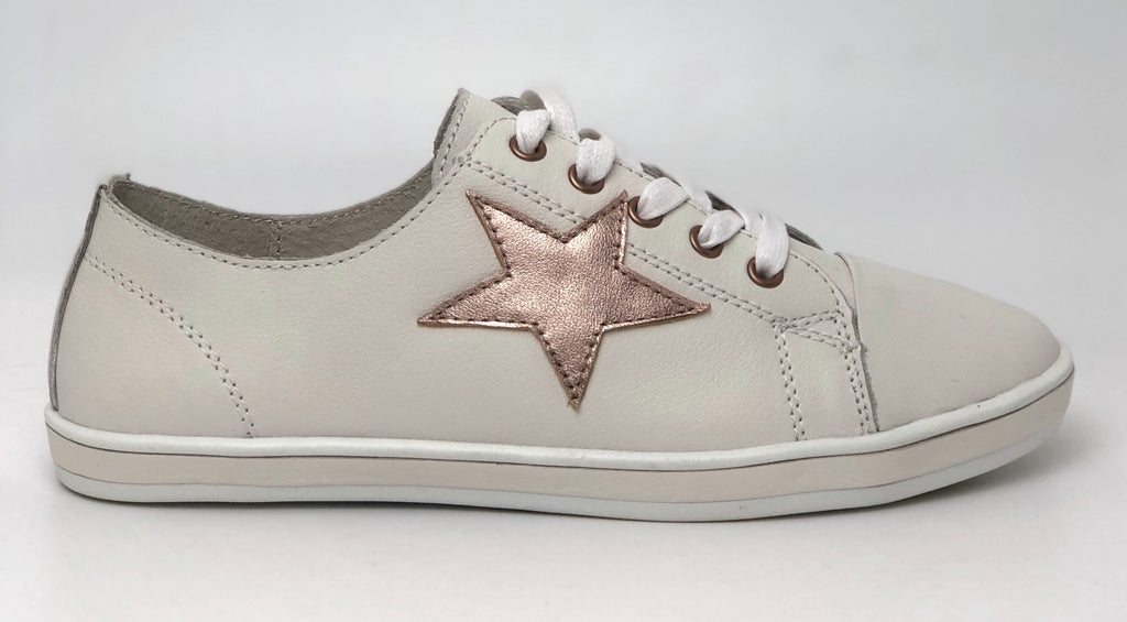 Alfie and Evie Giant Sneaker White and Rose Gold