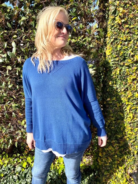 The Knit Studio Organic Cotton Windcheater Ocean