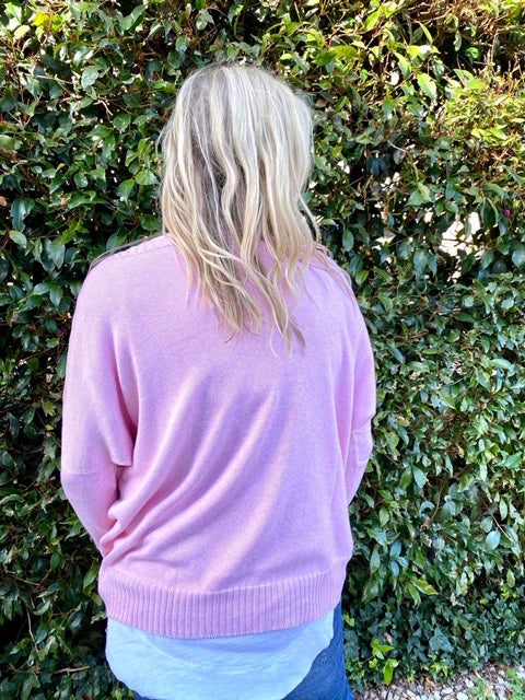 The Knit Studio Organic Cotton Windcheater Soft Pink