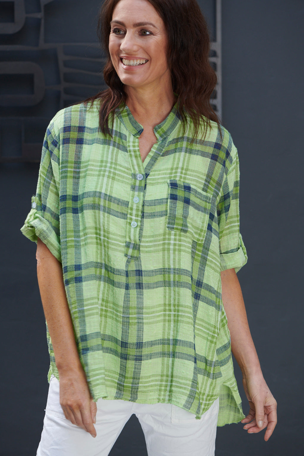 Italian Star Green Check Shirt