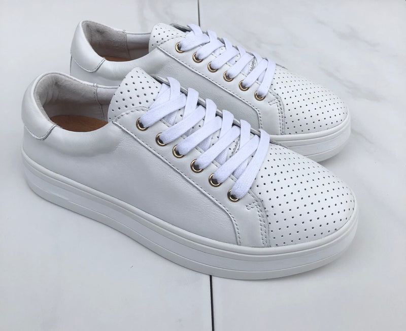 Alfie and Evie Paradise Sneaker White