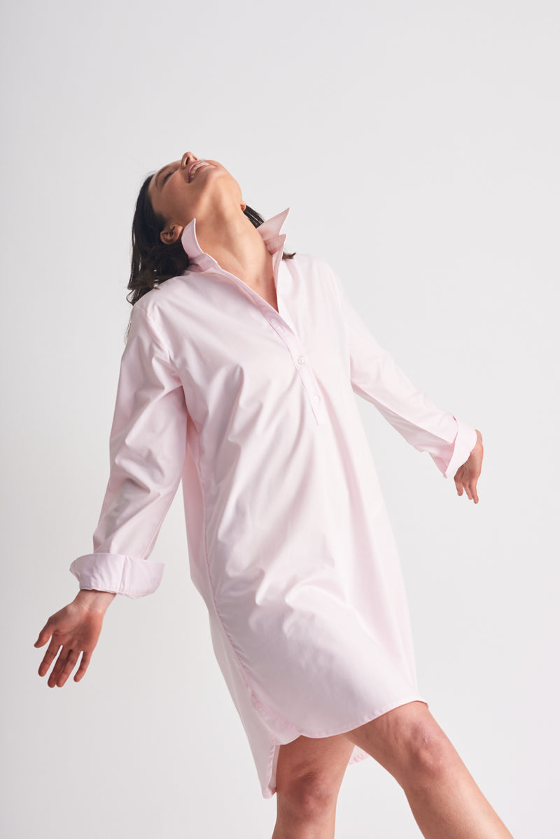 Shirty Shirt Dress Pale Pink