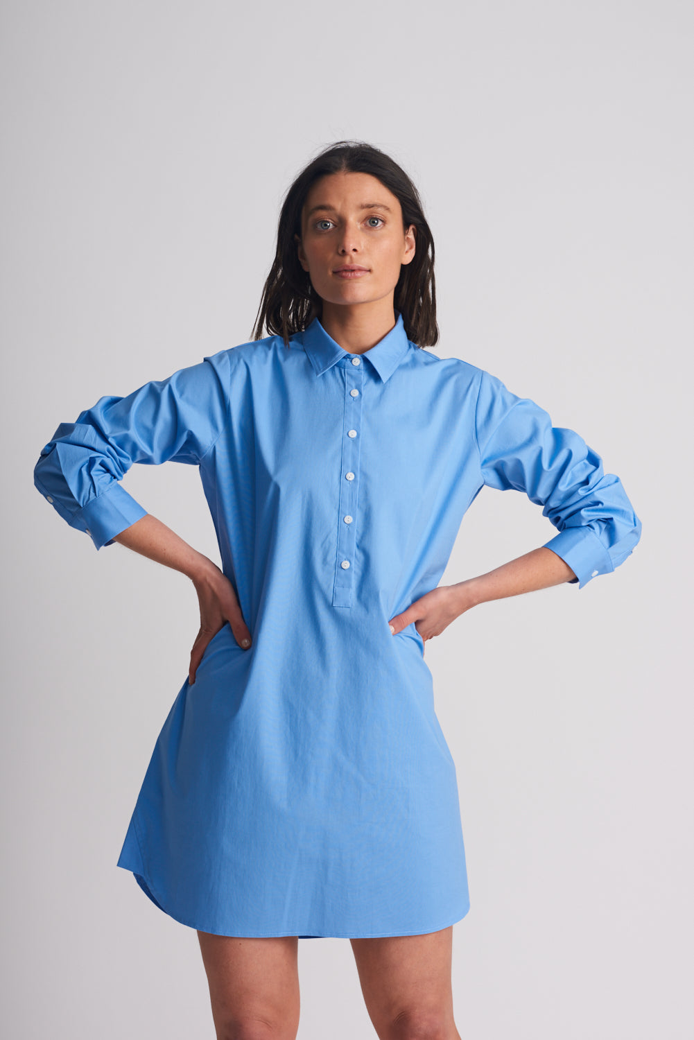 Shirty Shirt Dress Blue