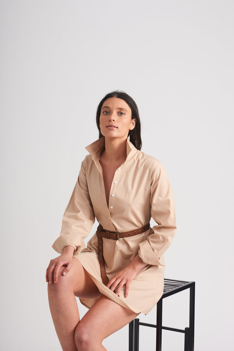 Shirty Shirt Dress Sand