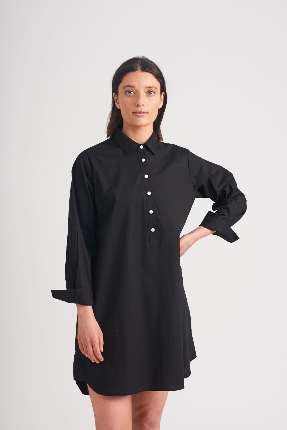 Shirty Shirt Dress Black
