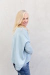 The Knit Studio Merino Boxy Crop Pale Blue