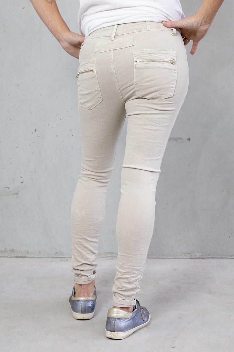 Italian Star Jeans Light Taupe