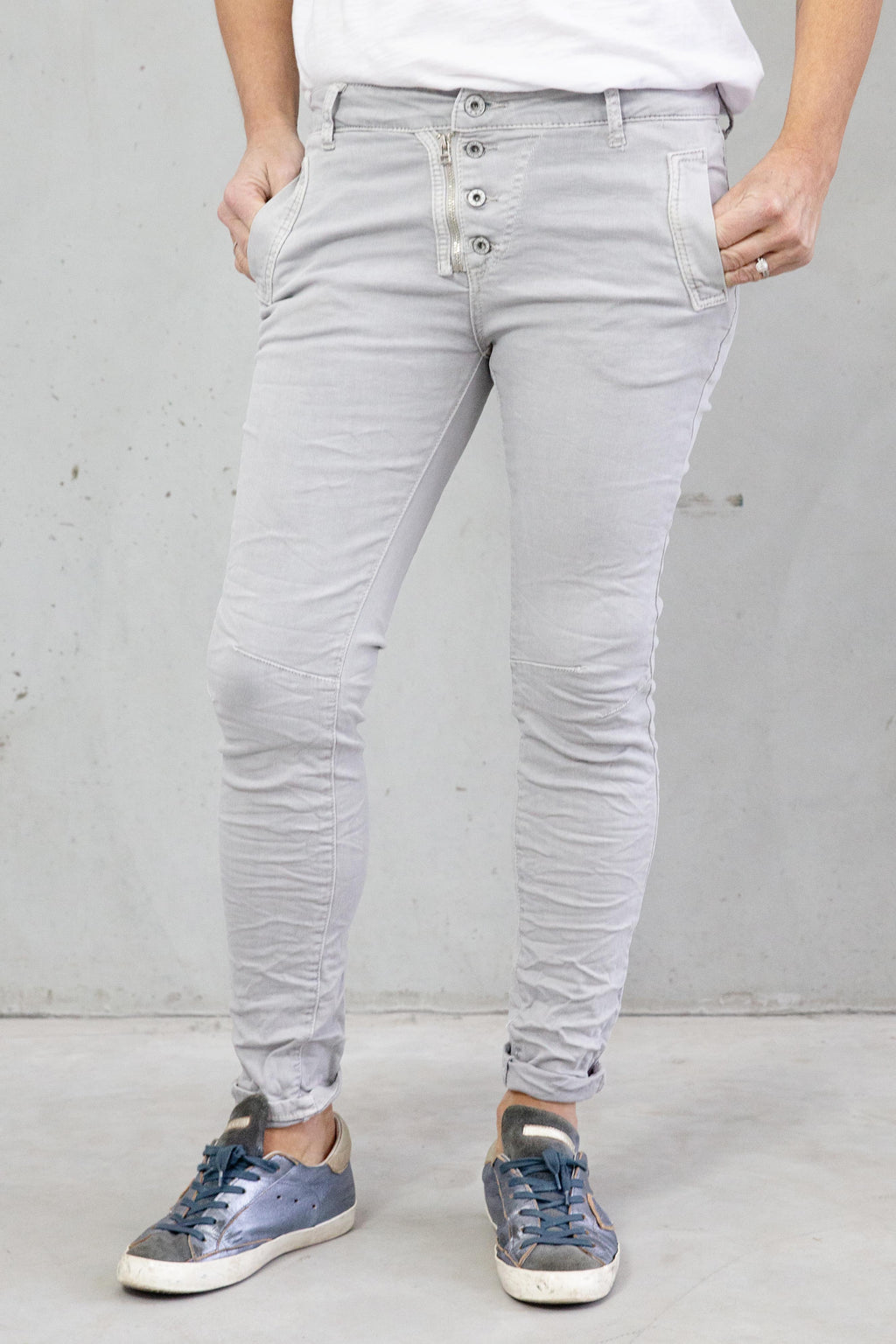 Italian Star Jeans Light Grey
