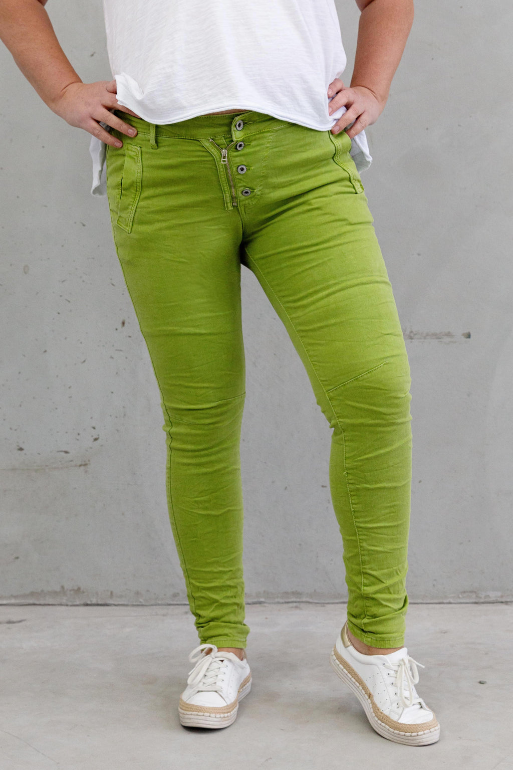 Italian Star Jeans Citrus Green