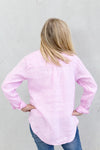 Hut Clothing Linen Boyfriend Shirt Musk Pink