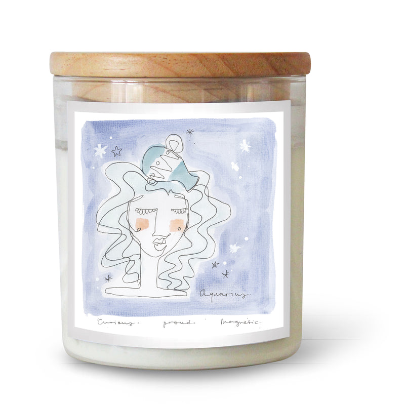 The Commonfolk Collective Zodiac Aquarius Candle Standard