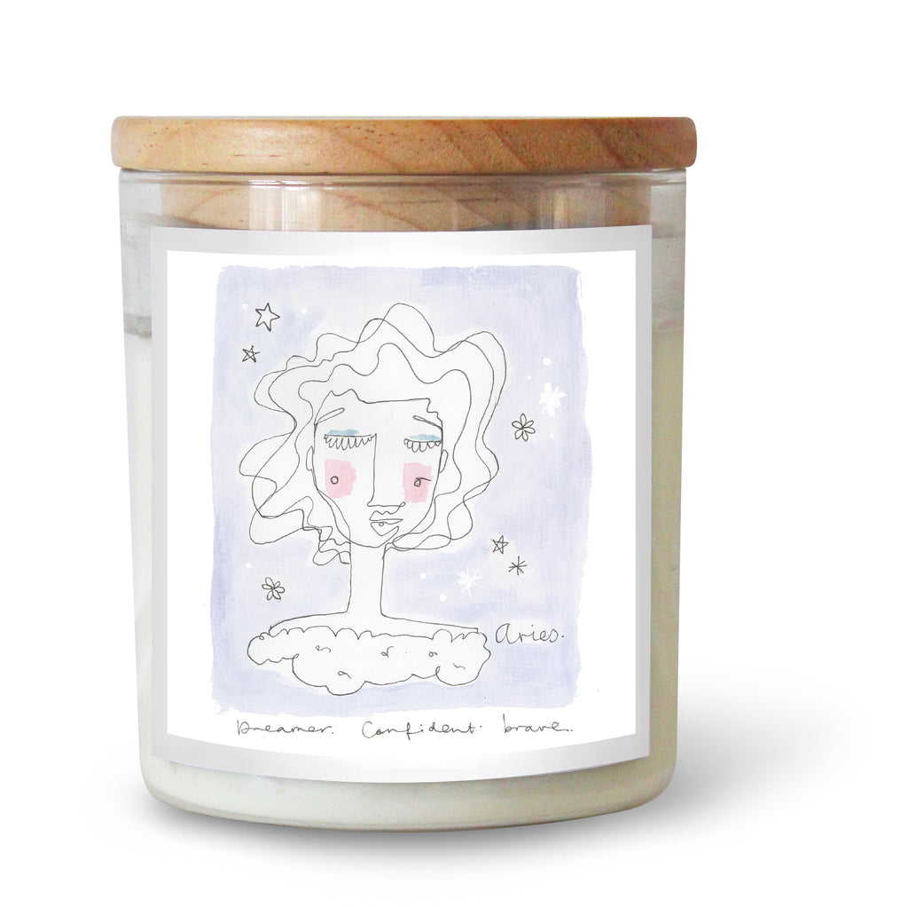 The Commonfolk Collective Zodiac Aries Candle Standard