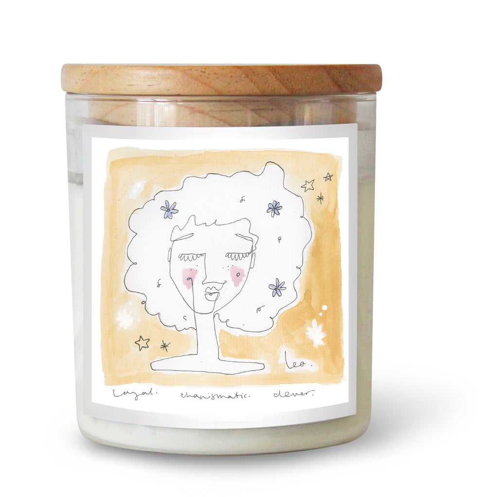 The Commonfolk Collective Zodiac Leo Candle Standard