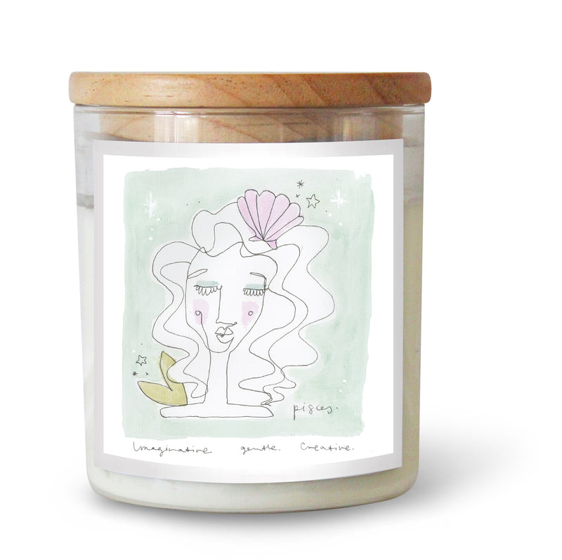 The Commonfolk Collective Zodiac Pisces Candle Standard