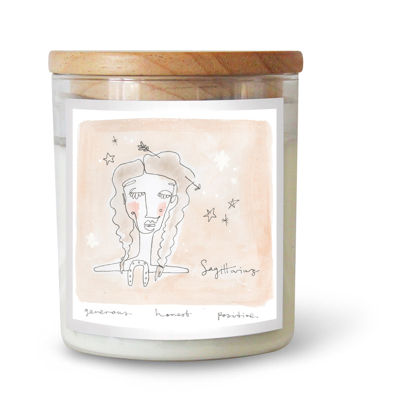 The Commonfolk Collective Zodiac Sagittarius Candle Standard