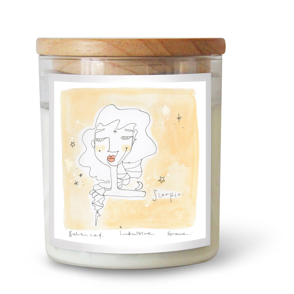 The Commonfolk Collective Zodiac Scorpio Candle Standard