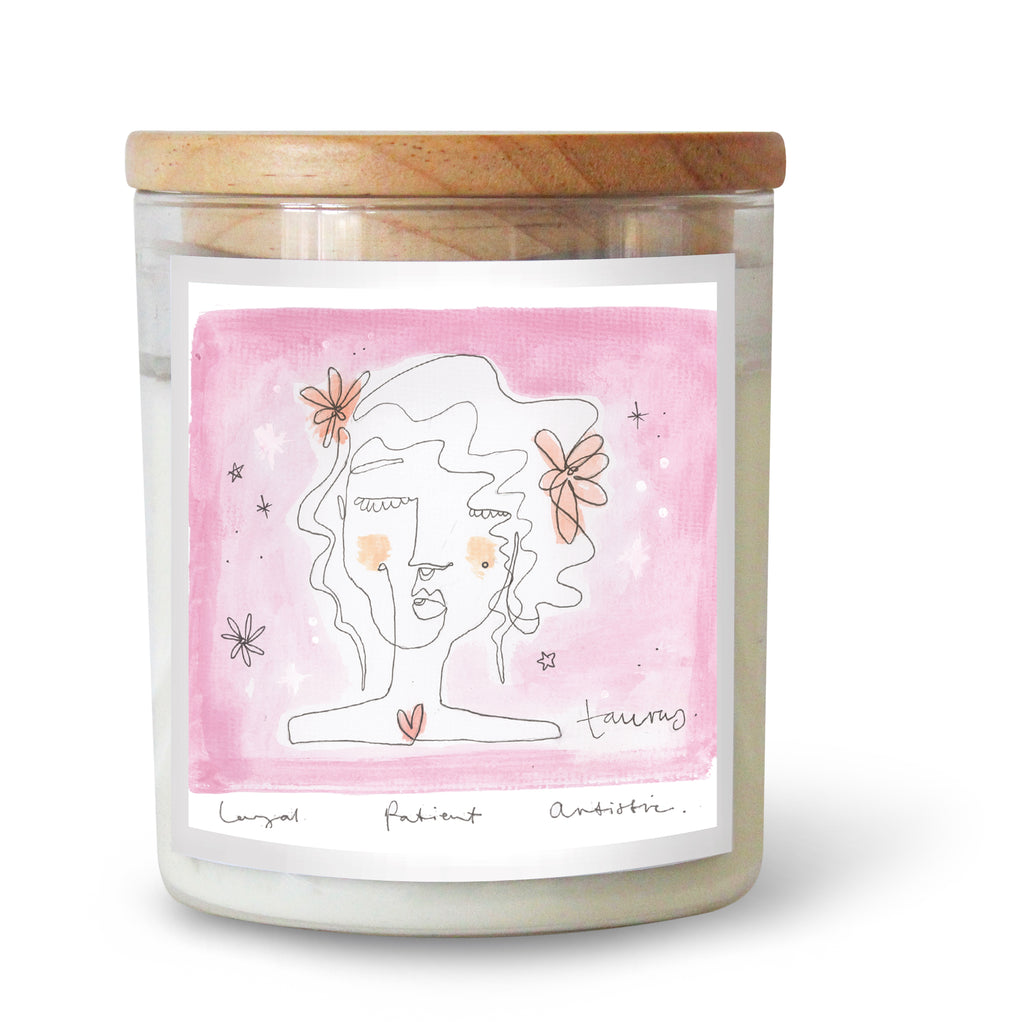 The Commonfolk Collective Zodiac Taurus Candle Standard
