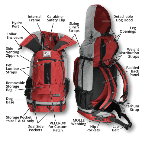 K9 Sport Sack Rover Features
