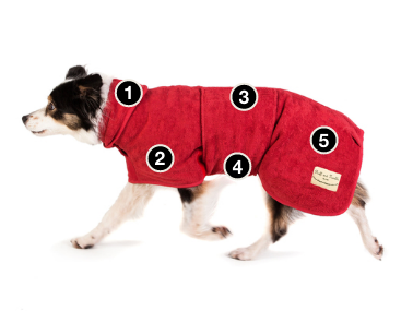 ruff and tumble dog drying coat features