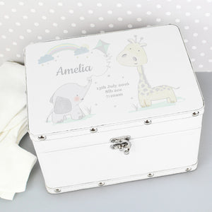 Personalised Leatherette Animal Friends Storage Box