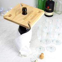 Load image into Gallery viewer, Personalised Prosecco Four Prosecco flute Holder & Bottle Butler