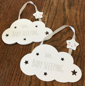 Shh Baby Sleeping Hanging Decor