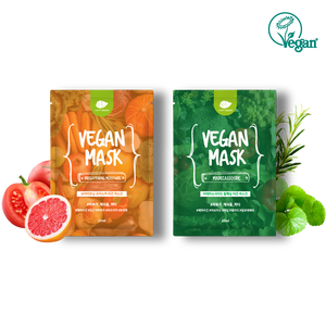 [Happy Vegan] Brightening Moisture Vegan Mask - CHOMIMO