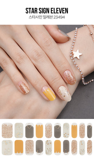 Gel Nail Strip - Star Sign #11