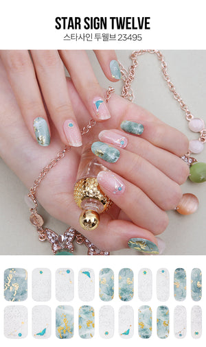 Gel Nail Strip - Star Sign #12