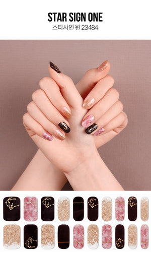 Gel Nail Strip - Star Sign #1
