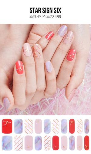 Gel Nail Strip - Star Sign #6