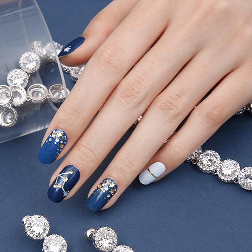 Gel Nail Strip - Star Sign #9