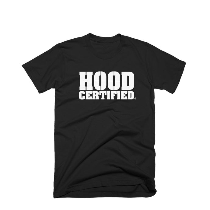 Hood Certified ™ Box Logo Short Sleeve Champion ™ T-Shirt (Black)