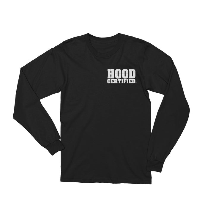 Hood Certified Box Pocket Logo Long Sleeve (BLACK)