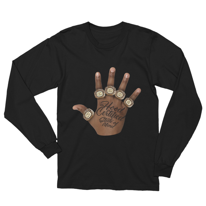 Hood Certified ® : ' State of Mind ' Long Sleeve Shirt (Black)