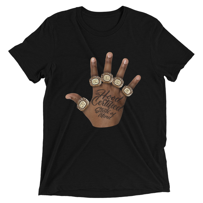 Hood Certified ® : 'State of Mind' Short Sleeve Shirt (Black)