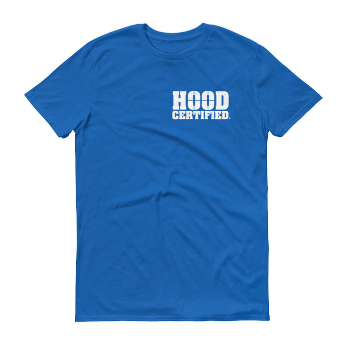 Hood Certifed : Royal Blue Shirt with White Logo