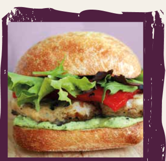 Grilled Chicken Sandwich with Yogurt Pesto Sauce