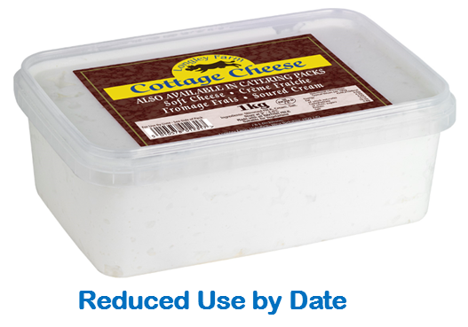 1kg Natural Cottage Cheese - Use by Date 09/03/21