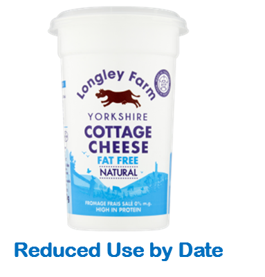 250g Fat Free Cottage Cheese - Use by Date 18/05/21