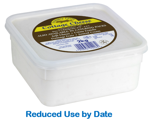 2kg Natural Cottage Cheese - Use by Date 09/03/21