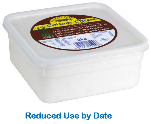 2kg Cottage Cheese with Chives - Use by Date 02/03/21