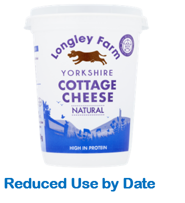450g Natural Cottage Cheese - Use by Date 07/03/21