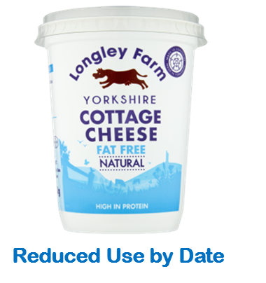 450g Fat Free Cottage Cheese - Use by Date 18/04/21